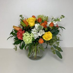 Irresistible Fire Floral Arrangement